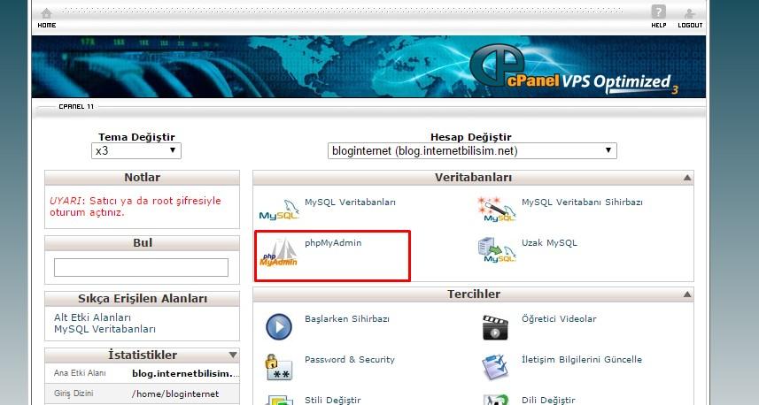 php-my-admin-database-onarma